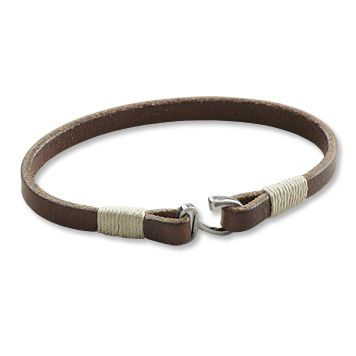 gallatin leather bracelet - great clasp