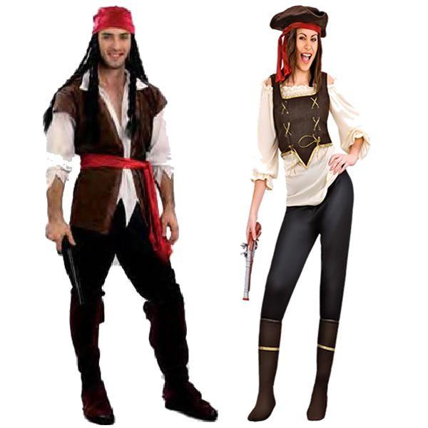 Disfracesmimo disfraz de corsarios para hombre y mujer for Disfraces caseros adultos