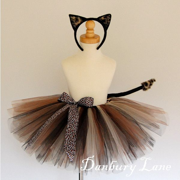 Baby Girl Cat tutu costume set for Cheetah or Leopard dress up with ears and & Baby Girl Cat tutu costume set for Cheetah or Leopard dress up with ...