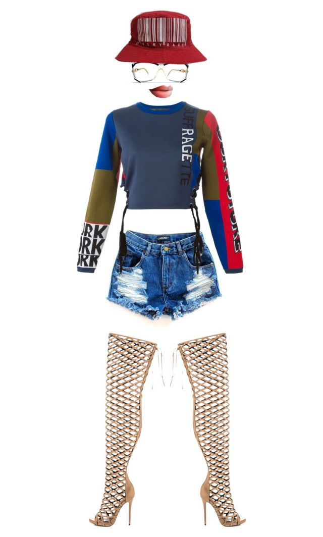"""""""Bad gal"""" by jofrancis ❤ liked on Polyvore featuring Marc by Marc Jacobs, Lust For Life and Cazal"""