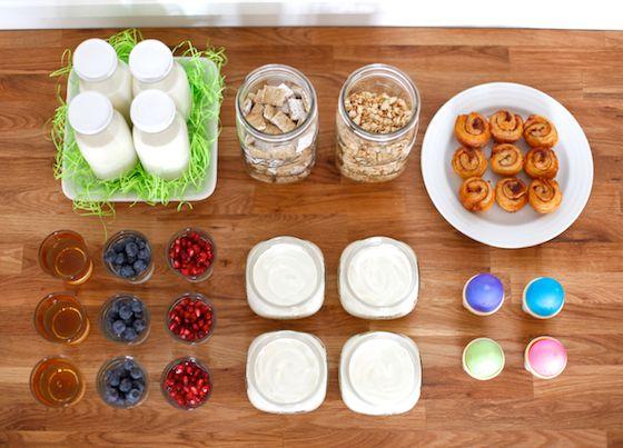 fantastic, adorable, easy breakfast bar idea. so many possible ways to apply this idea.