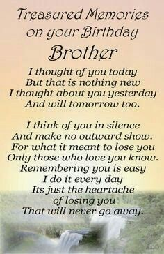I Shall Never Forget You Missing My Brother Happy Birthday