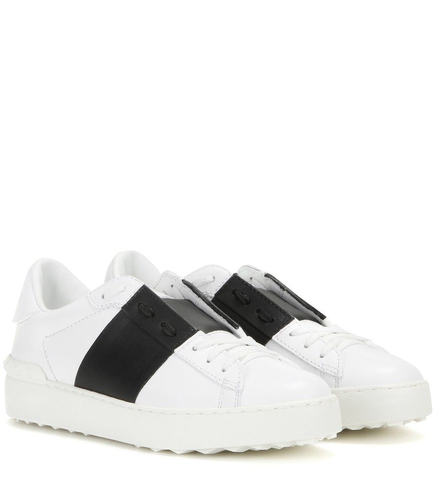 Valentino - Open leather sneakers