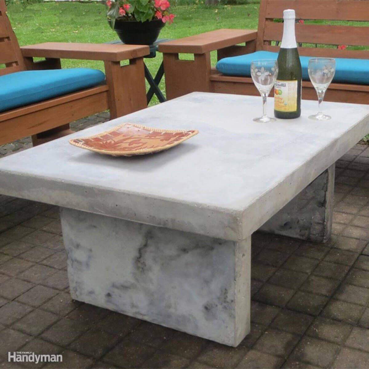 5 Outdoor Tables You Can Make Concrete Outdoor Table Concrete Diy Outdoor Countertop