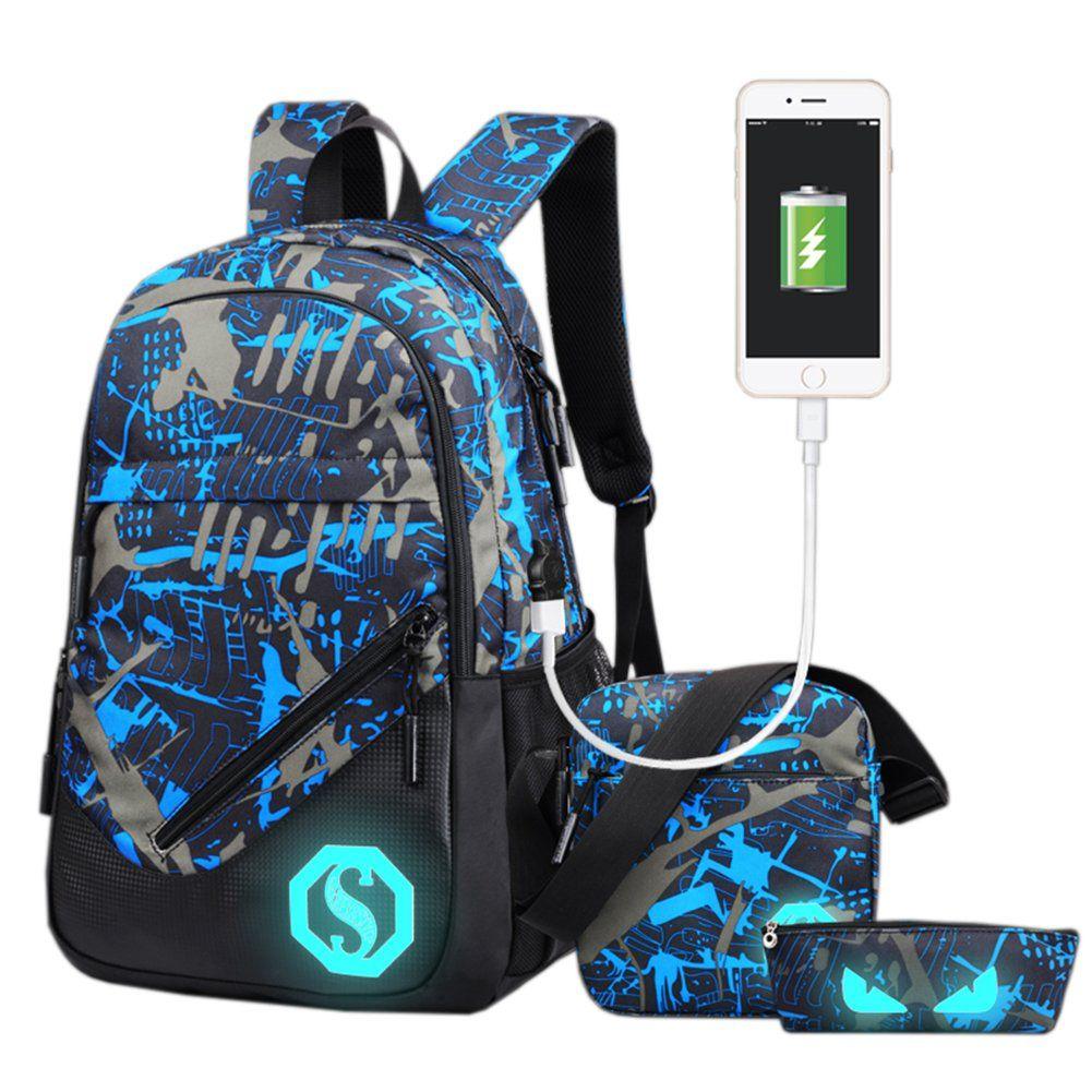 Fantastic Zone Boy Girl Unisex 3 Sets Of Capacity 20l School Bag Pencil Bag And Shoulder Bag Boo In 2020 School Bags For Kids School Backpack Boys Small Shoulder Bag