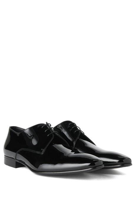 74bf714cb1f08 Hugo Boss Italian Patent Leather Derby Tuxedo Shoe | Cristallo - 7 ...
