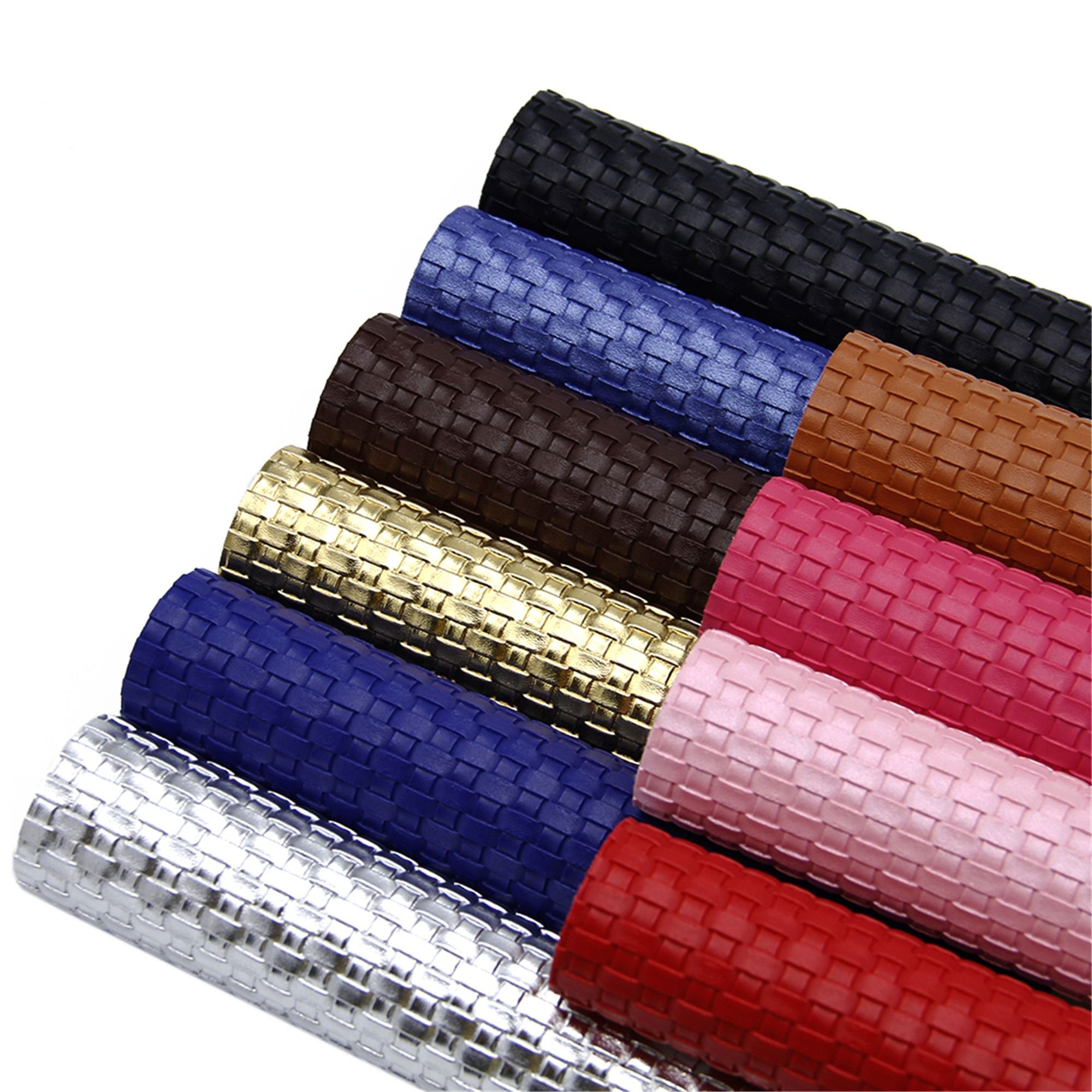 Woven Printed Faux Leather Sheet 10pcs Setbasketweave Etsy Pleather Fabric Leather Sheets Diy Hair Bows