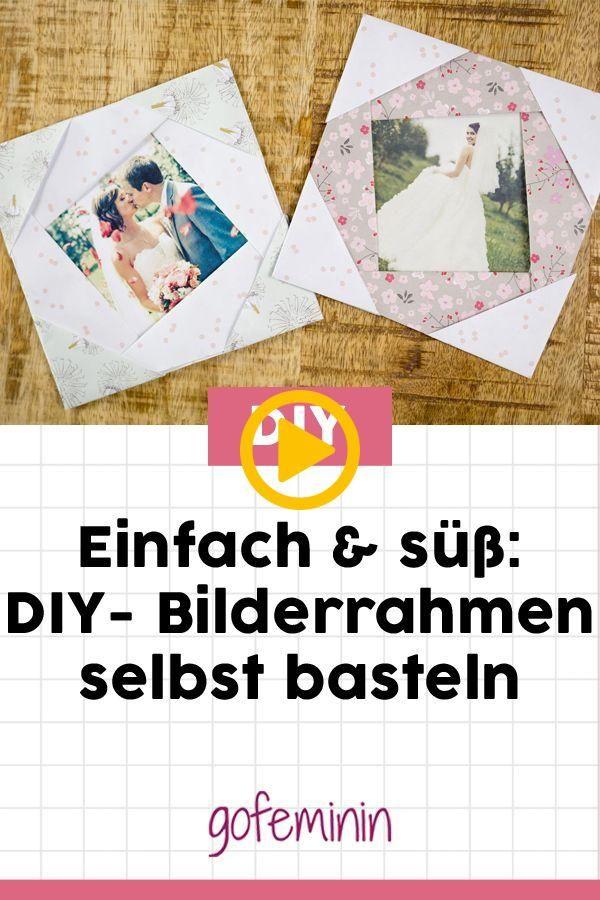 DIY-Bilderrahmen: Einfach und schnell selbst basteln.