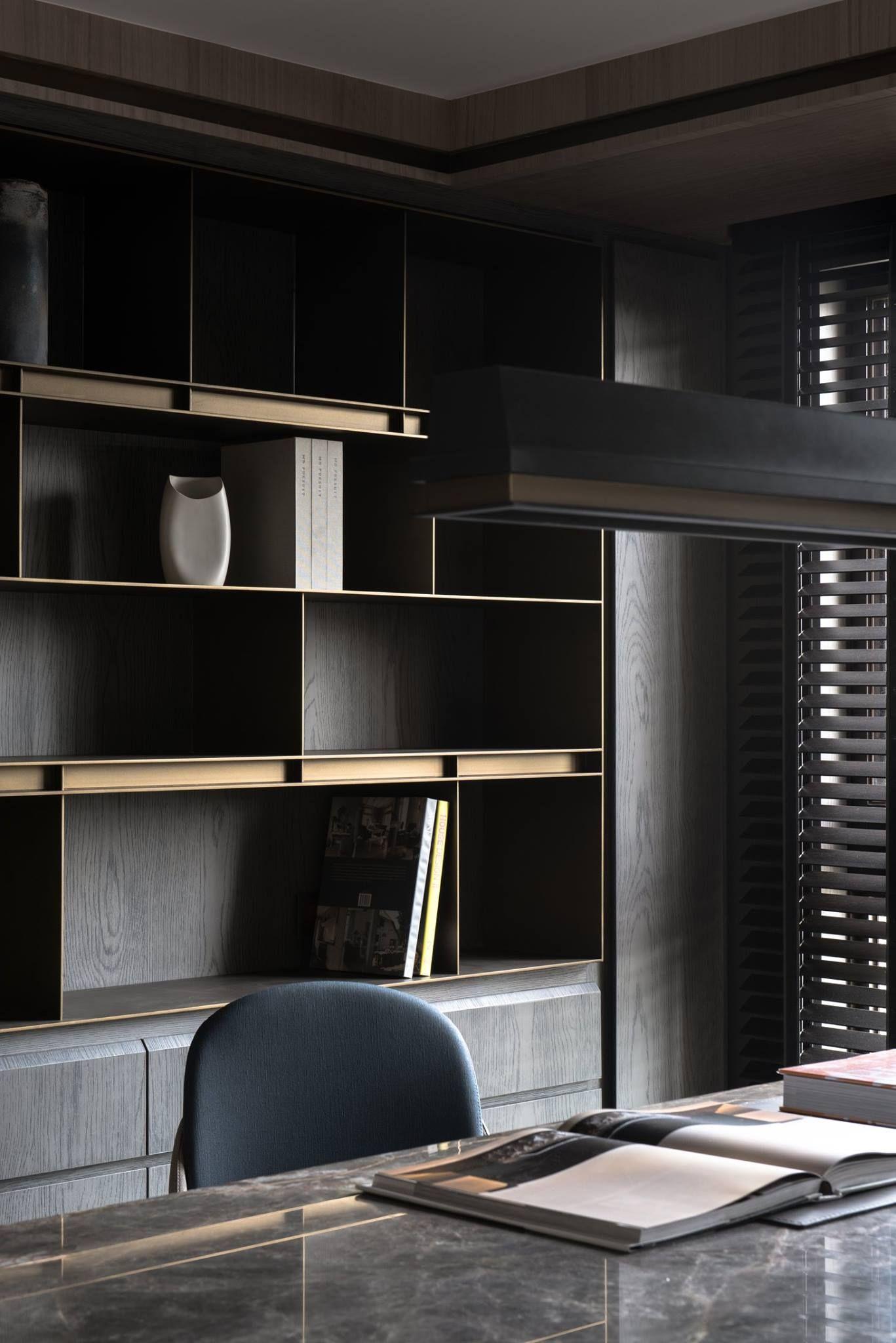 Pingl Par Sur Pinterest Bureau  # Bibliotheque Moderne Design Panneau Coulissant