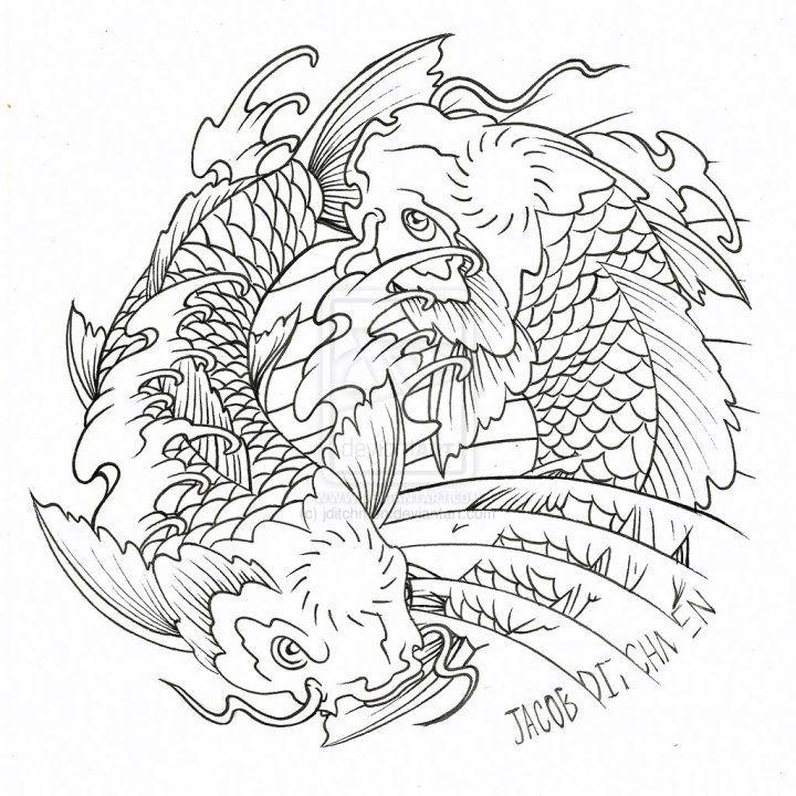 koi-fish-yin-yang-tattoo-designs.jpg (720×720) | Coloring Adult my ...