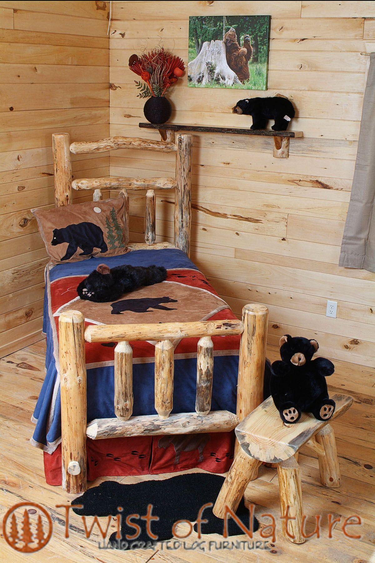 Handmade Deluxe Log Bed Frame Kit Decor Bedroom Log