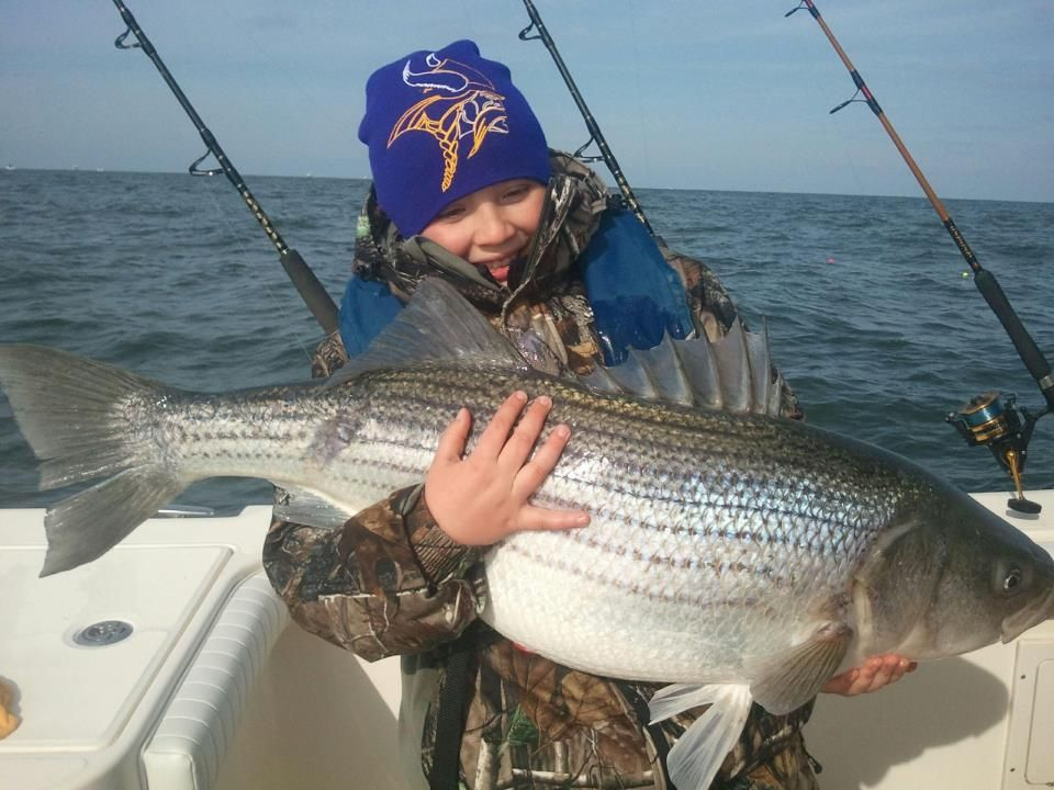 It's going off in Virginia right now for big Stripers.