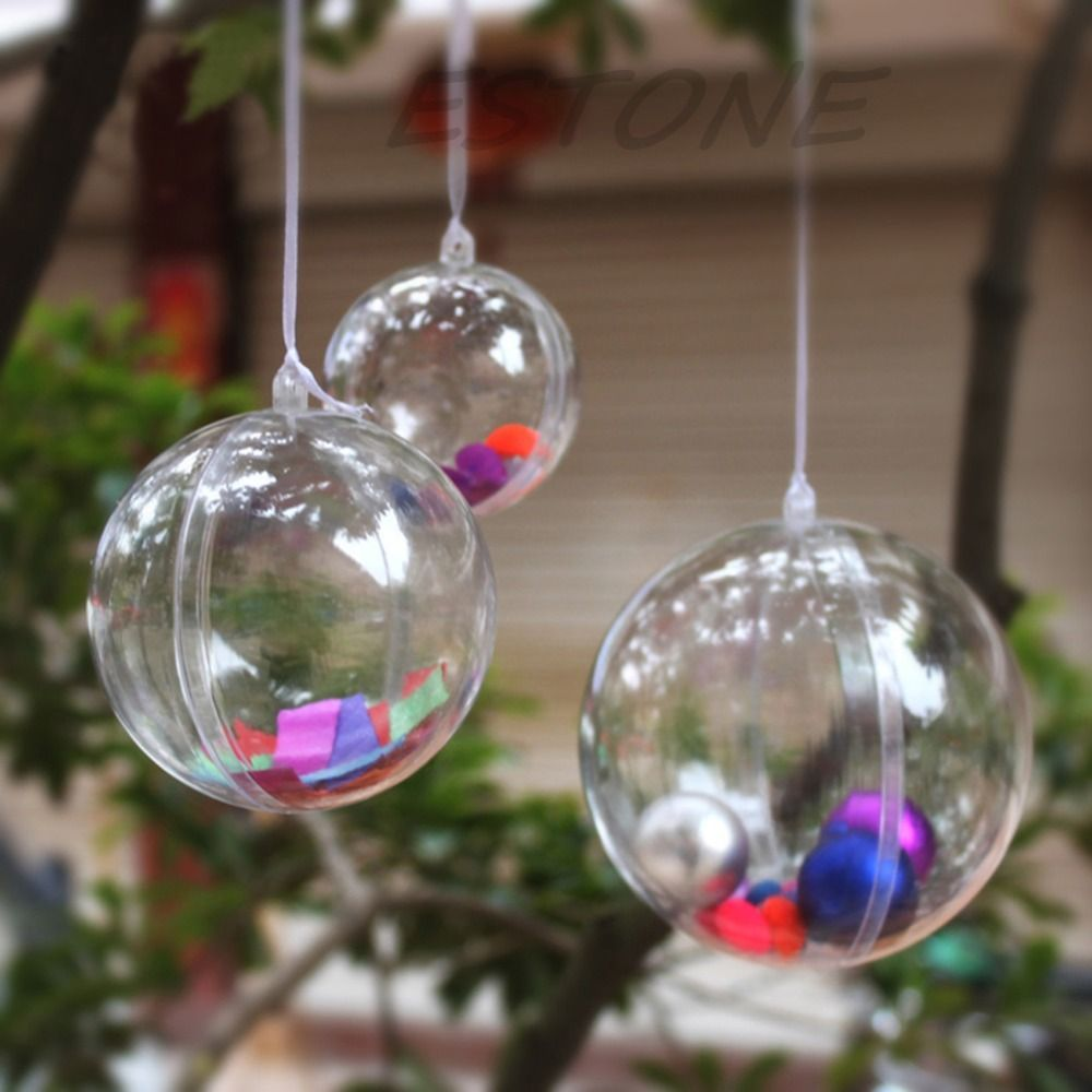 Plastic Ball Ornament Decorating Ideas Wedding Christmas Tree Ball Ornament Transparent Clear Plastic