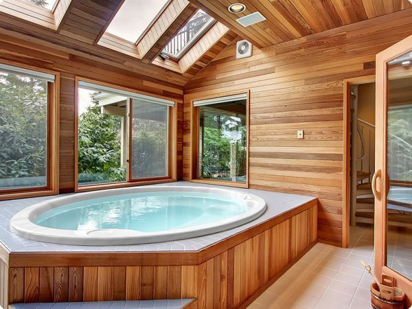 Image Result For Sauna Spa Hot Tub Room Home Spa Room Indoor Hot Tub