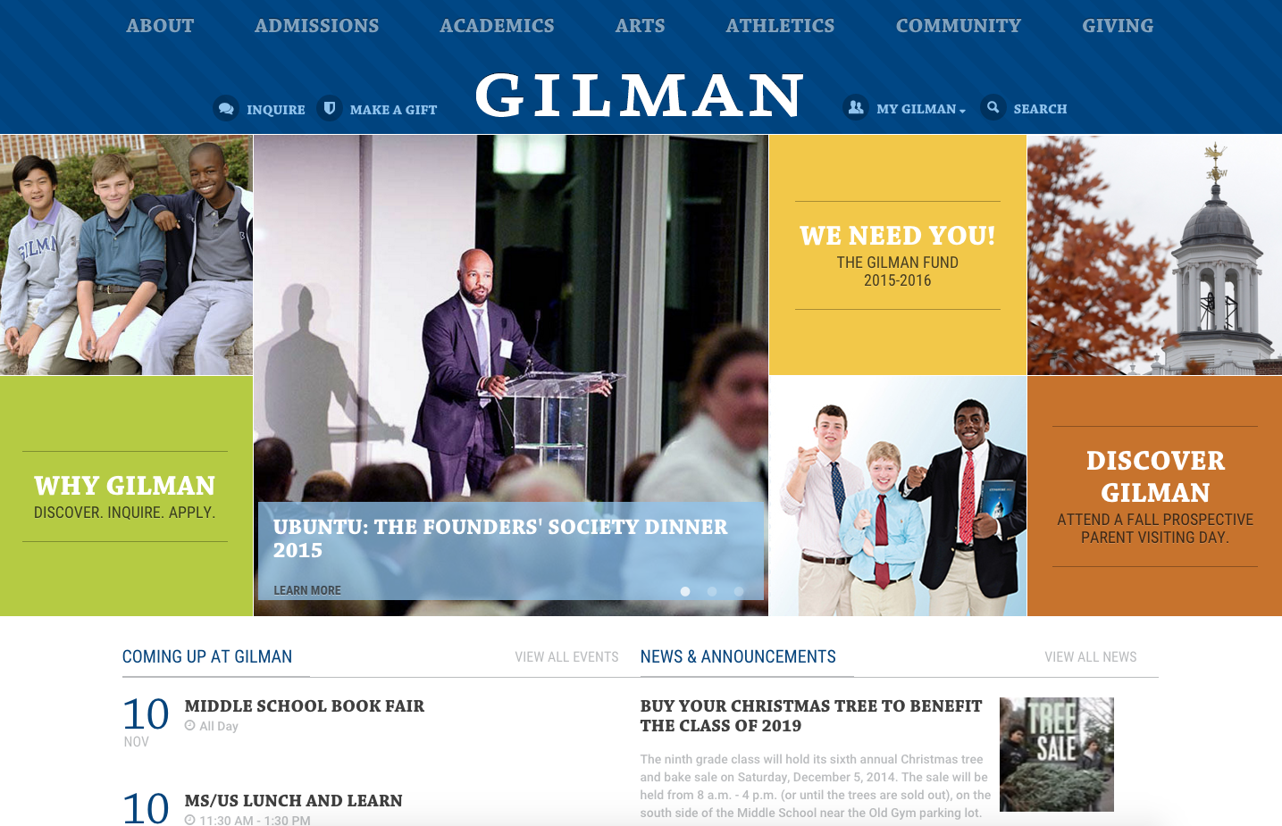 Gilman Best Private Schools School Website Private School