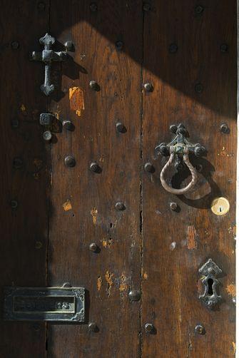 Old door knocker, Oxford, UK