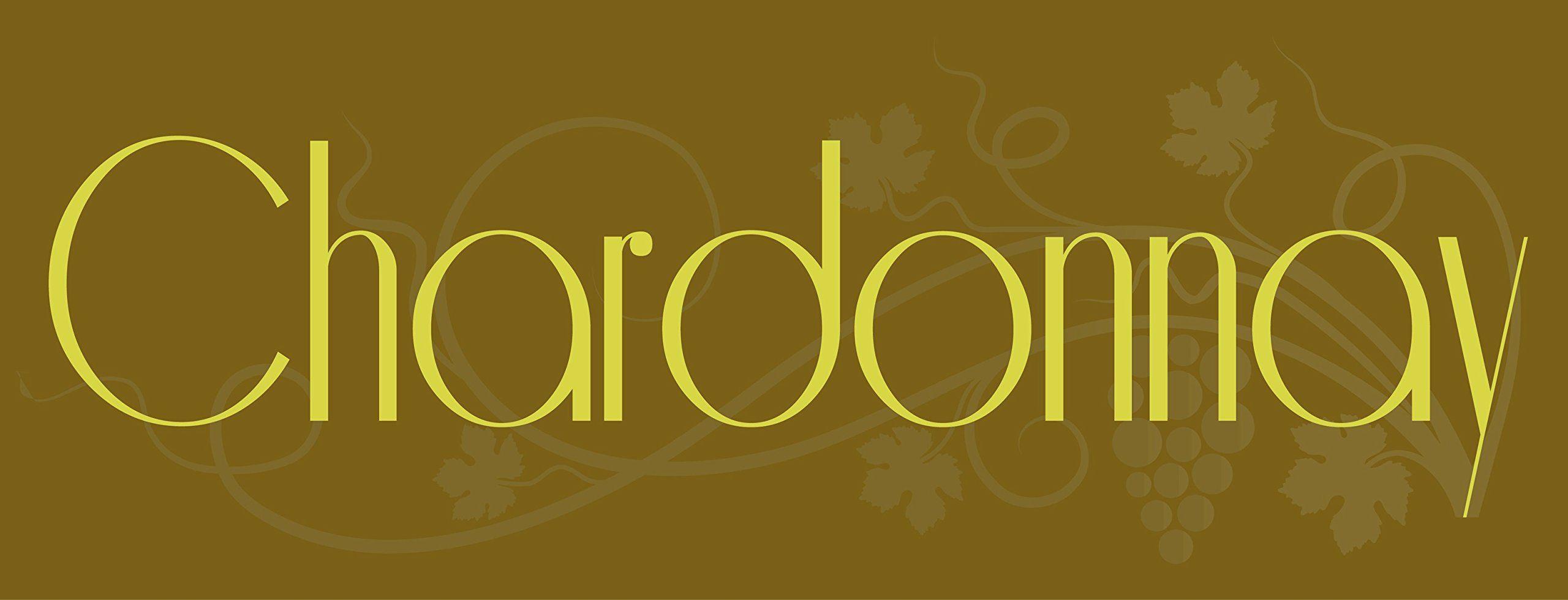 Chardonnay Wine Metal Sign, Elegant Family Room, Bar, Den, Pub Decor ...