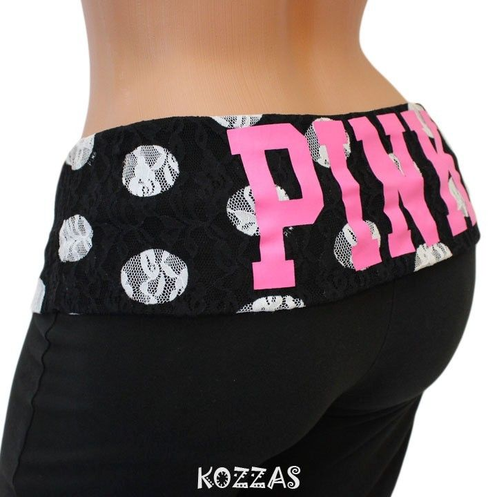72de19098c595 Victoria's Secret Pink Dots Yoga Pants | Victoria's Secret | Pink ...