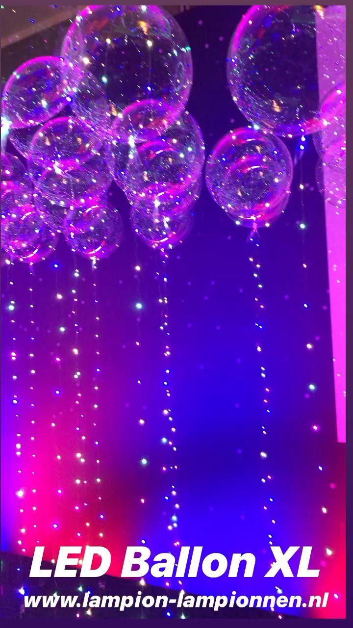 Photo of Led ballon XL, bobo balloon helium party feest decoratie event styling neon disco glow
