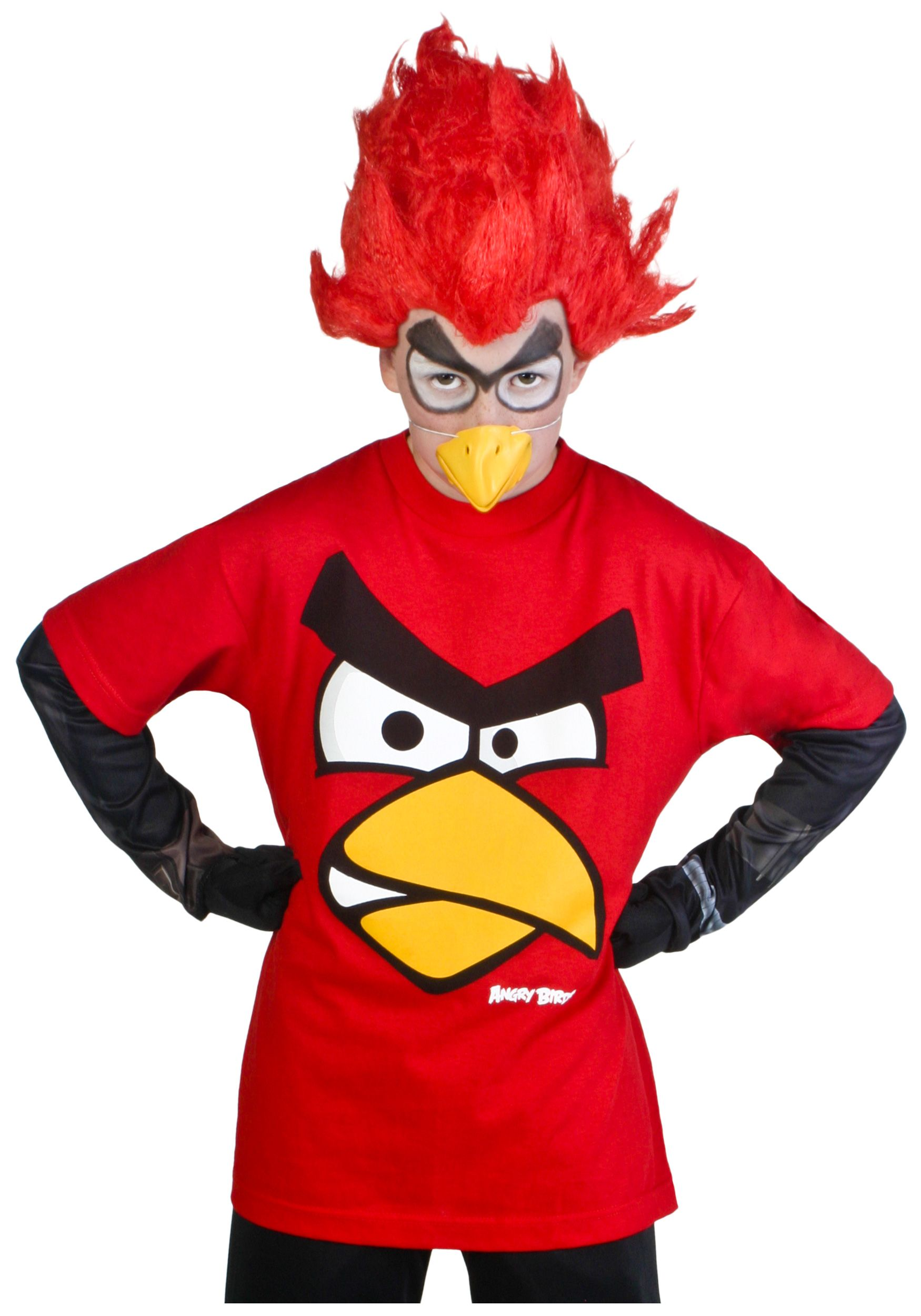 Kids Red Angry Birds Costume T-Shirt | Halloweemn | Pinterest ...