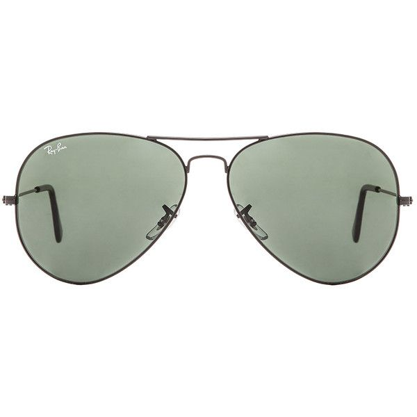37f683b750f Ray-Ban Aviator Large Metal II Sunglasses ( 155) ❤ liked on Polyvore  featuring