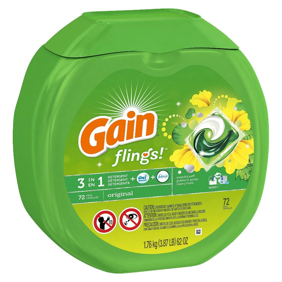 Loved These Gain Flings Original Laundry Detergent Pacs 72