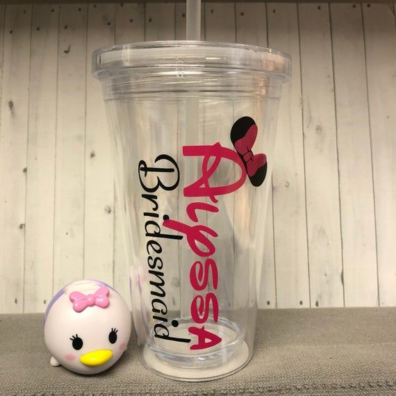 disney inspired acrylic tumbler, bridal party tumbler, disney bridal, destination disney cups, perso #disneycups