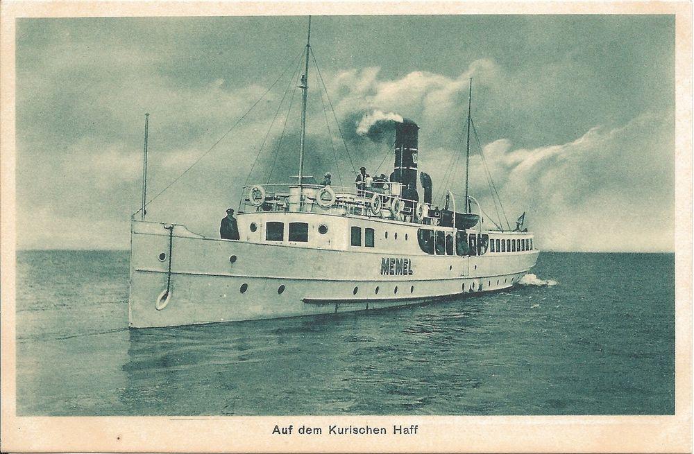 AK Dampfer  Memel , auf dem Kurischen Haff, ungelaufen, 20er Jahre