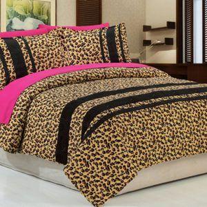 cheetah bedroom forter sets