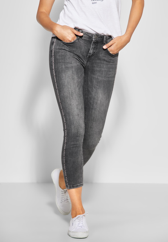 STREET ONE Comfort fit Jeans mit Galon Streifen