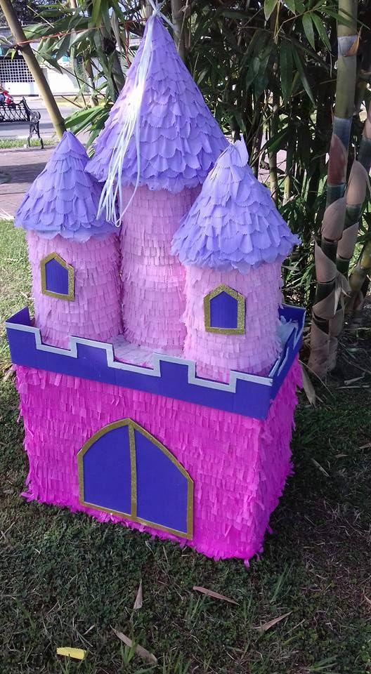 pi ata castillo elaborada en cart n pi atas kasteny manualidades pinterest pi atas cart n. Black Bedroom Furniture Sets. Home Design Ideas