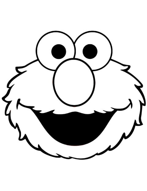 Elmo Face Elmo Coloring Pages