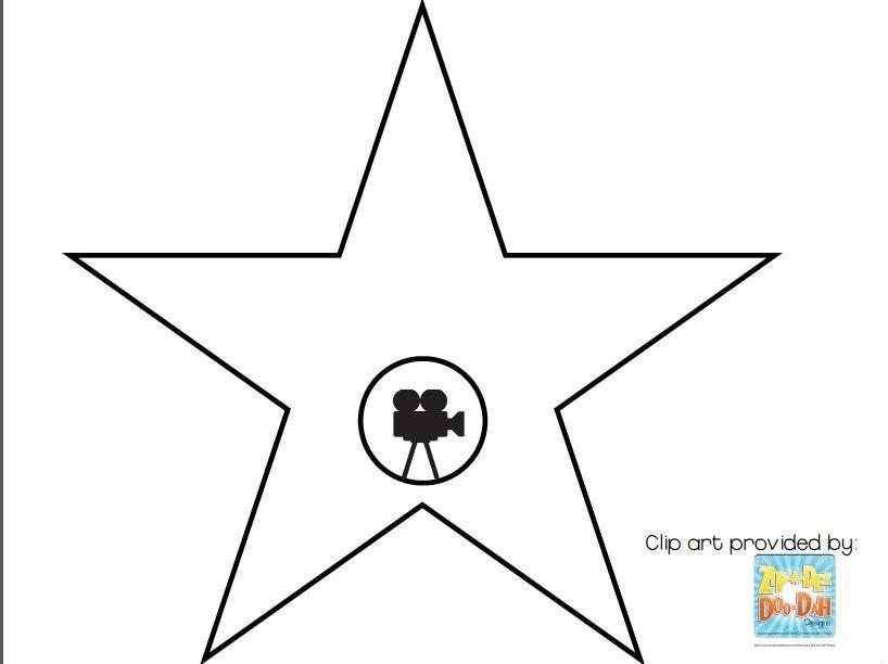 Resultat De Recherche D Images Pour Hollywood Star Template