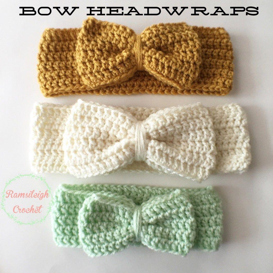 Crochet Bow Headwrap {FREE PATTERN}   crocheted patterns   Pinterest