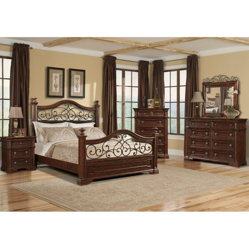 San Marcos Bedroom - Bed, Dresser & Mirror - Queen (872) | Conn\'s ...