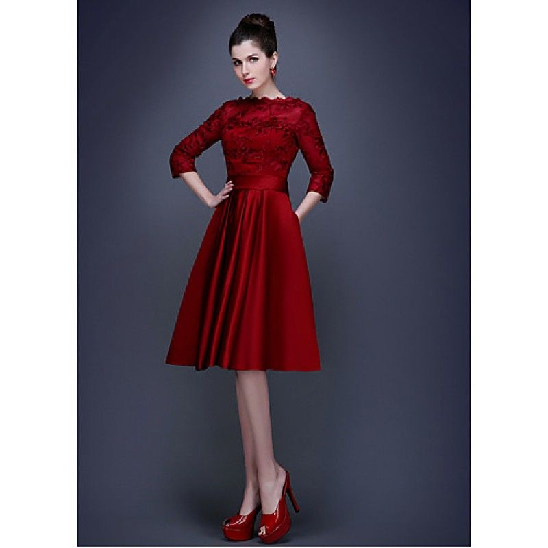 abc9bcee55f Australia Cocktail Party Dress Ruby Burgundy Plus Sizes Dresses A-line  Bateau Short Knee-length Satin Formal Dress Australia