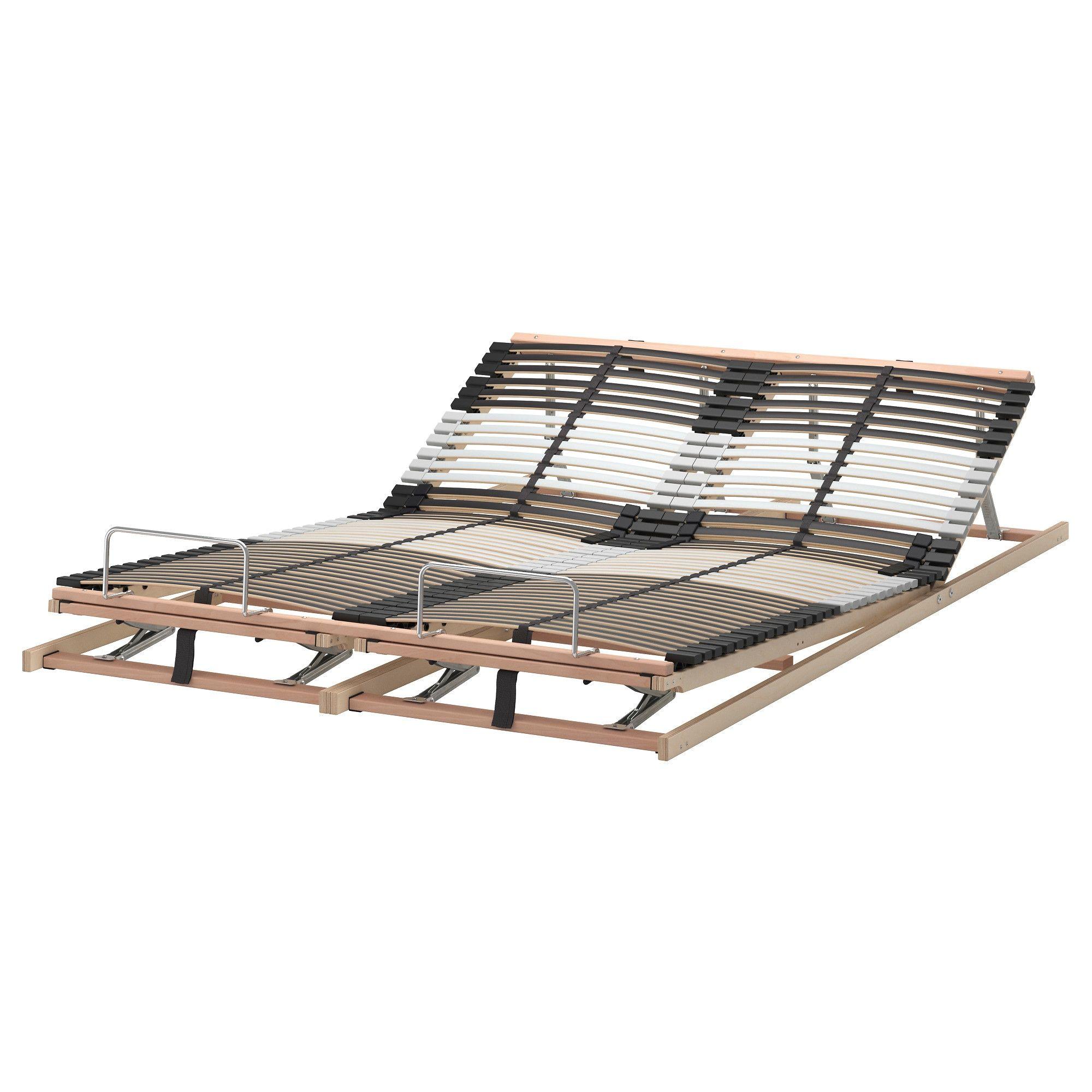 LEIRSUND Slatted bed base, adjustable Queen Bed slats