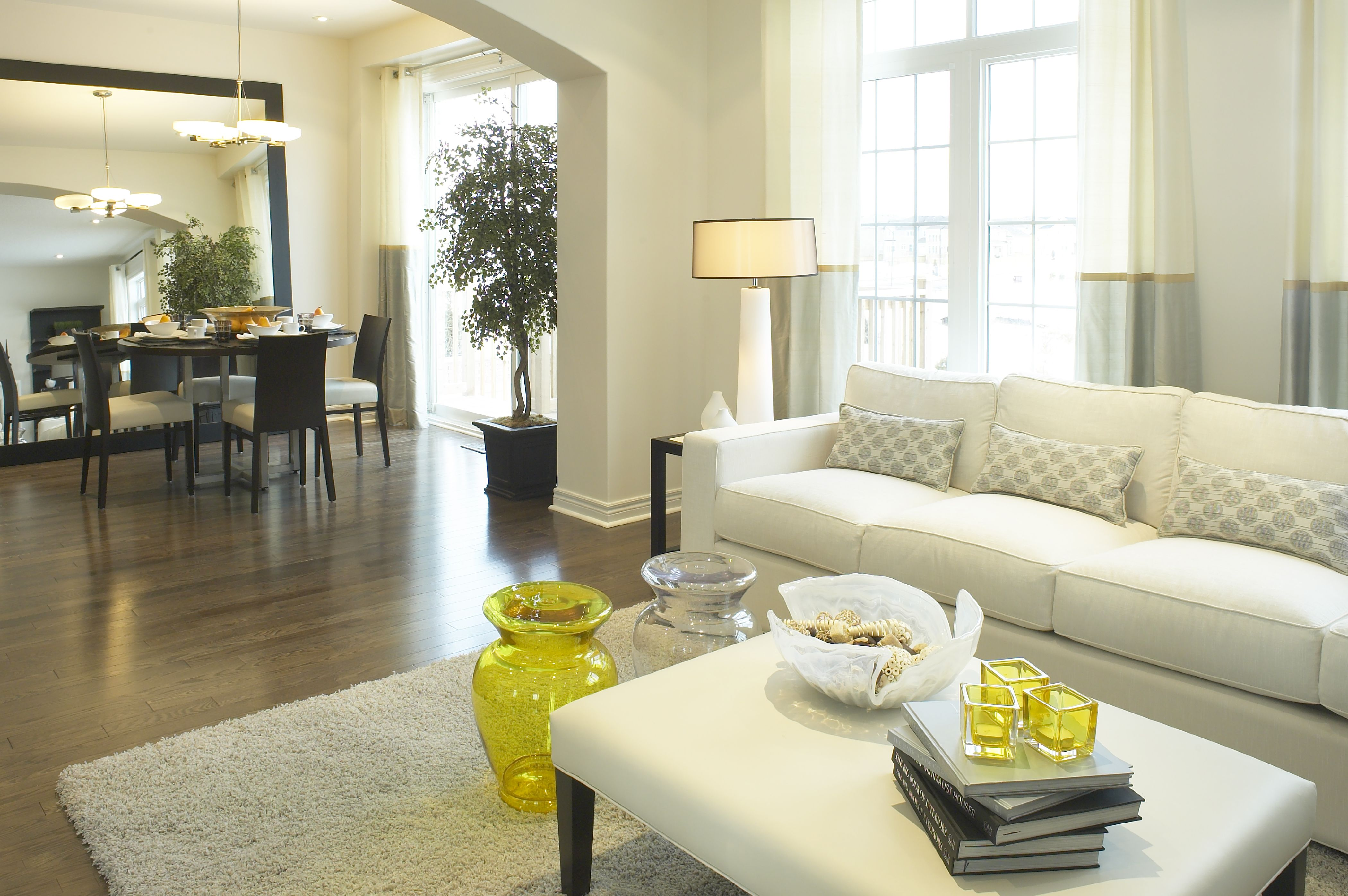 Bronte Creek Homes: Model living/dining room. Loving that pop of ...