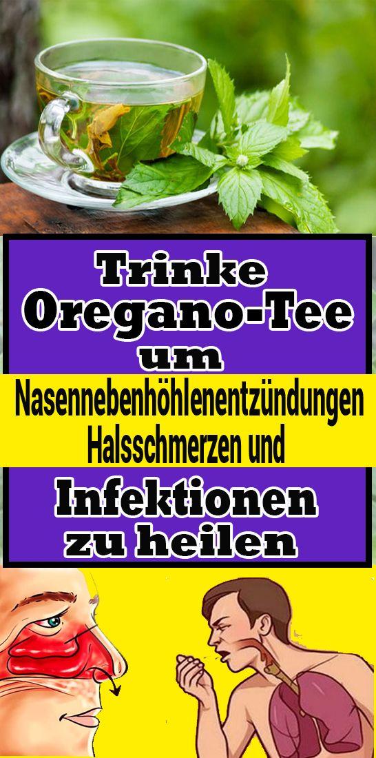 Trinke Oregano-Tee, um Nasennebenhöhlenentzündungen, Halsschmerzen und Infektionen zu heilen #naturalcures