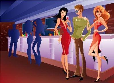 cartoon bar scene - Google Search   Cartoon, Vector design ...
