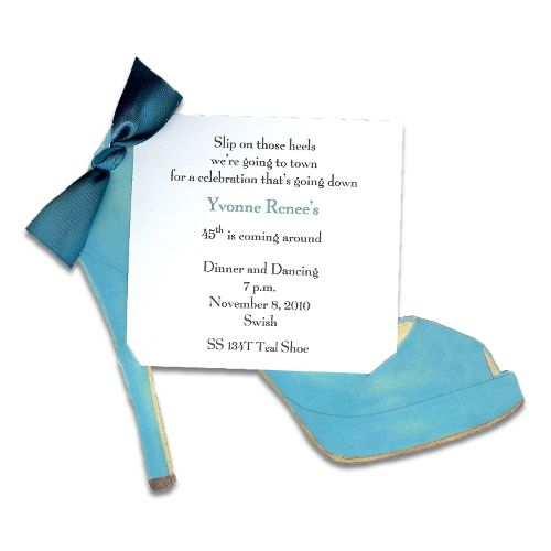 Teal High Heel Invitation Teal high heels Teal and Bridal showers