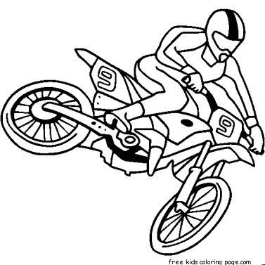 Boy Coloring Pages Fargelegge Tegninger Free Kids Motocross