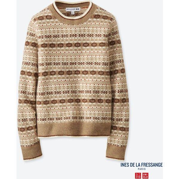 UNIQLO Women's Idlf Jacquard Crewneck Sweater ($15) ❤ liked on ...
