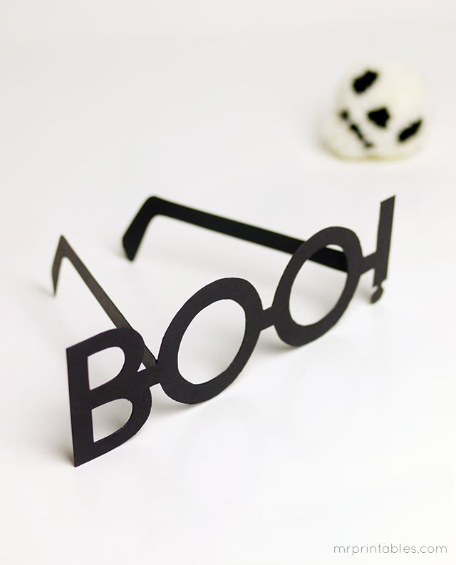 BOO! Halloween Typography Glasses - the new best way to boo people! : )