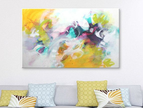 Large abstract painting Acrylic painting Large Wall art Abstract art ...