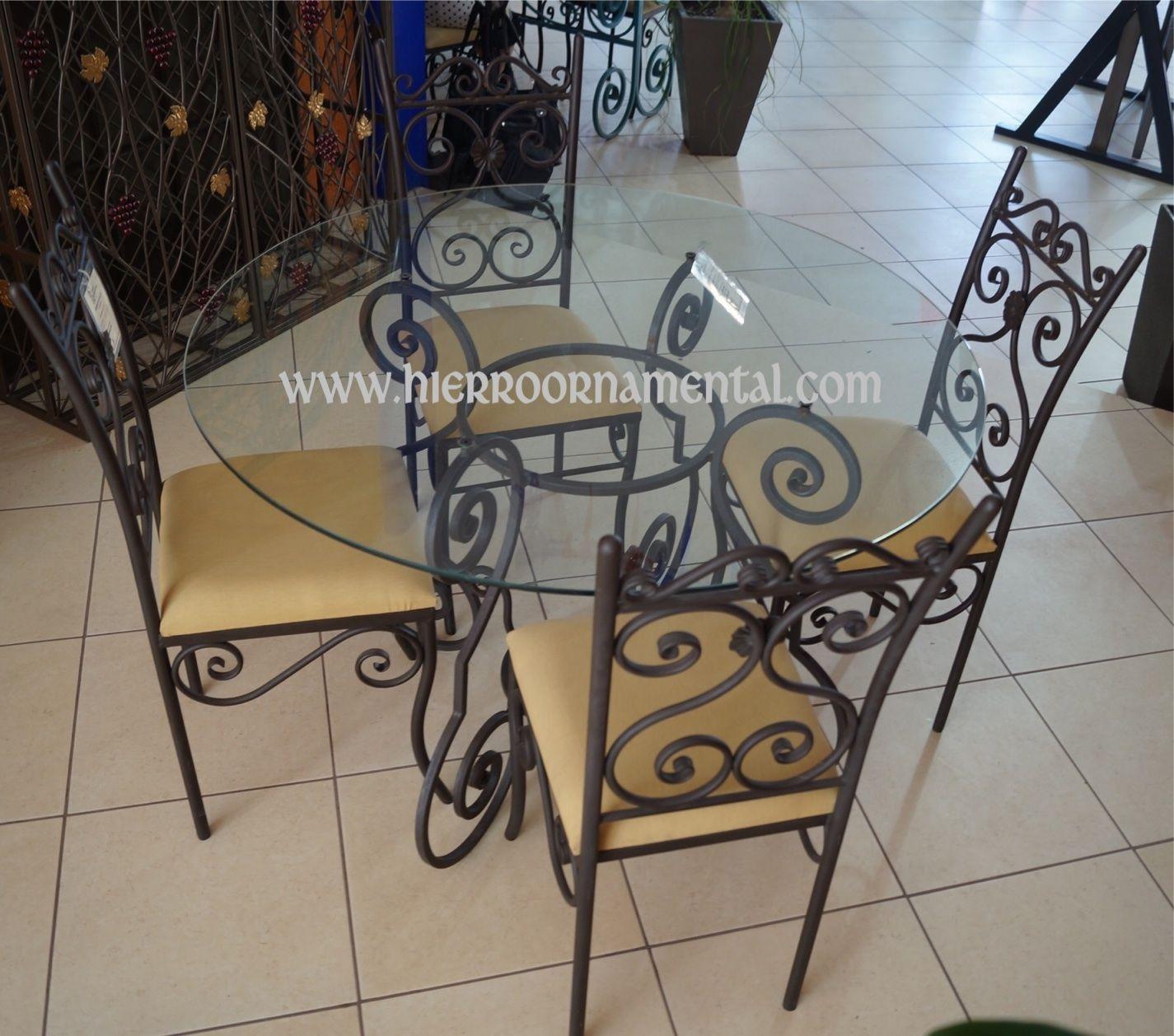 Antecomedor detalle producto comedor muebles de for Muebles de fierro forjado