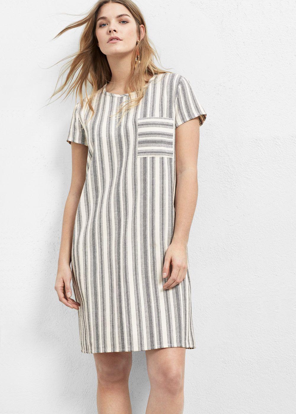 striped cotton dress - plus sizes | violetamango usa