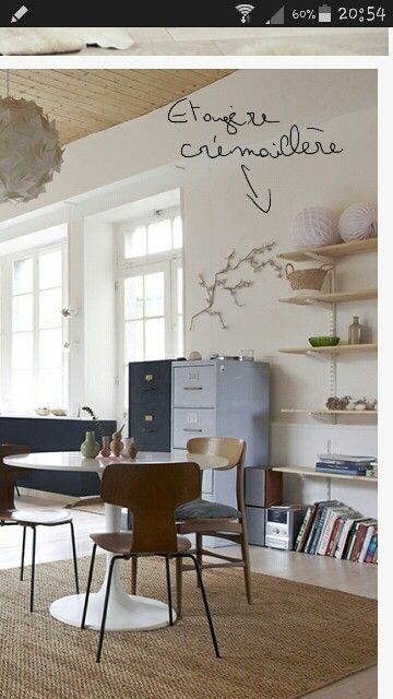 tag re cr maill re d co pinterest tag re etagere bureau et cremaillere. Black Bedroom Furniture Sets. Home Design Ideas