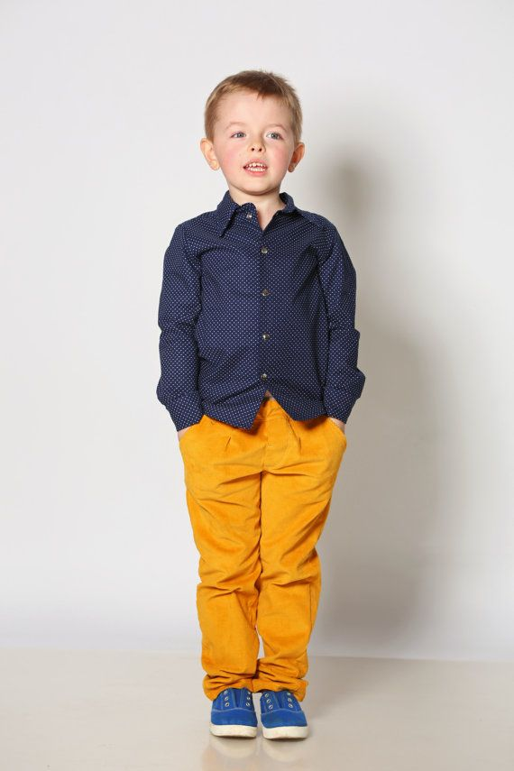 Boys pants toddler boys corduroy pants boys mustard by yellOkids ...