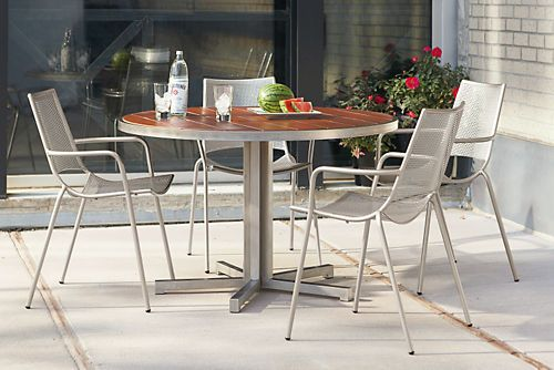 Montego Round Outdoor Dining Tables Modern Outdoor Dining